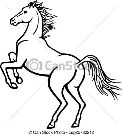 Horse On Hind Legs Clip Art.