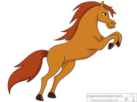 Horse On Hind Legs Clip Art.