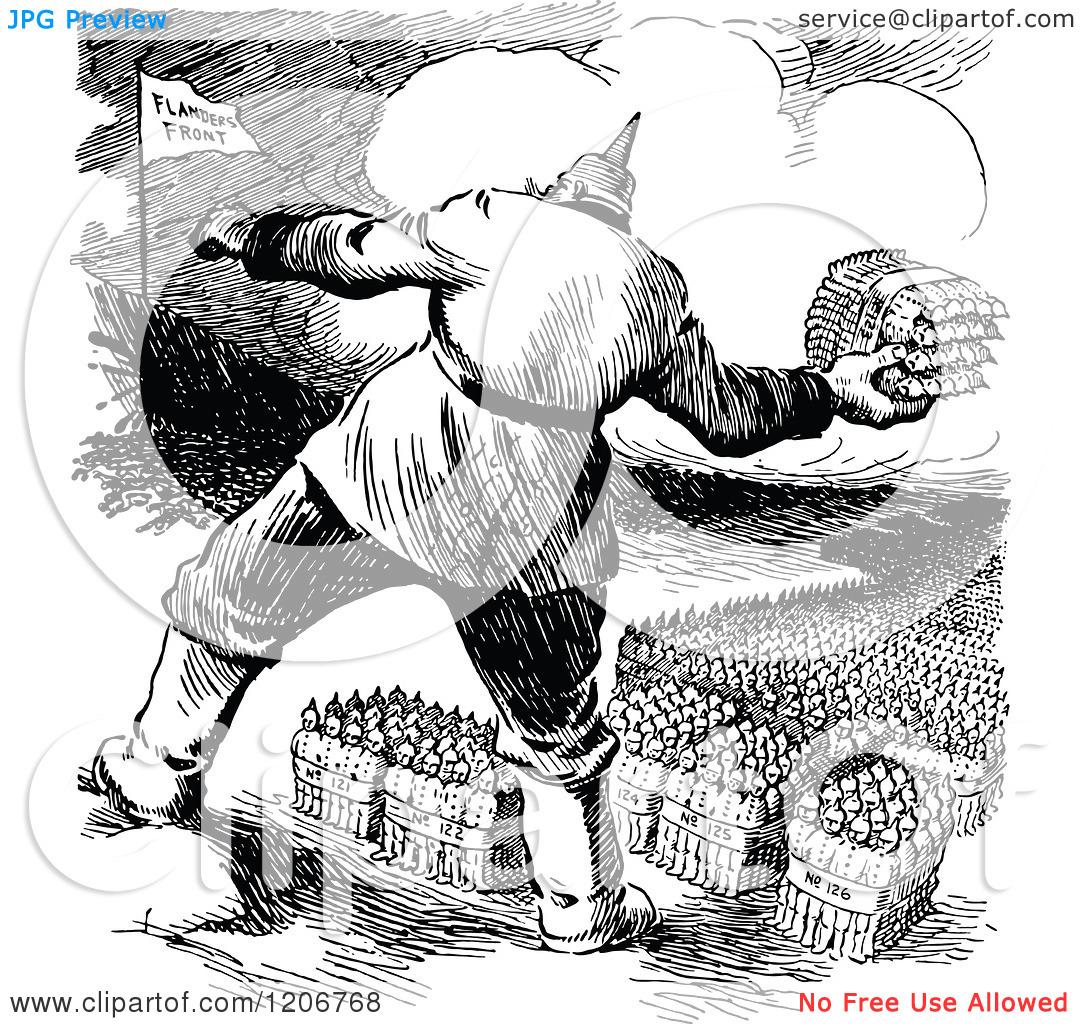 Clipart of Vintage Black and White Hindenburg Hurling Fresh.