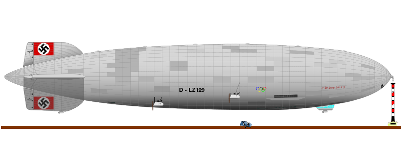 Free Hindenburg Airship Clip Art.