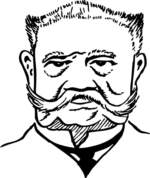 Paul Von Hindenburg clip art Free vector in Open office drawing.