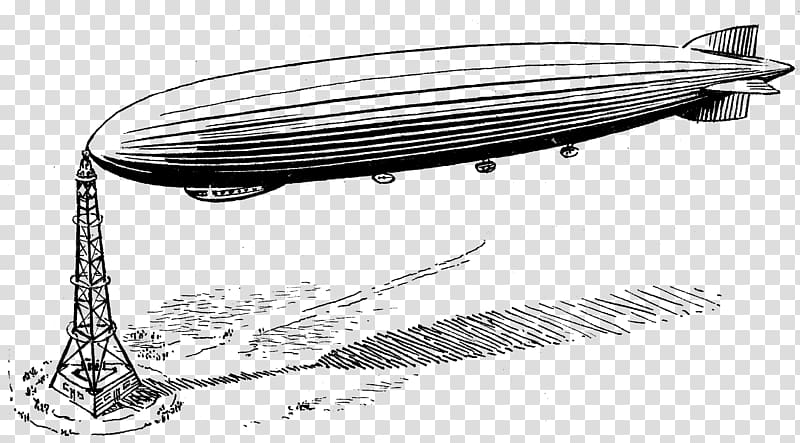 Zeppelin Rigid airship, others transparent background PNG.