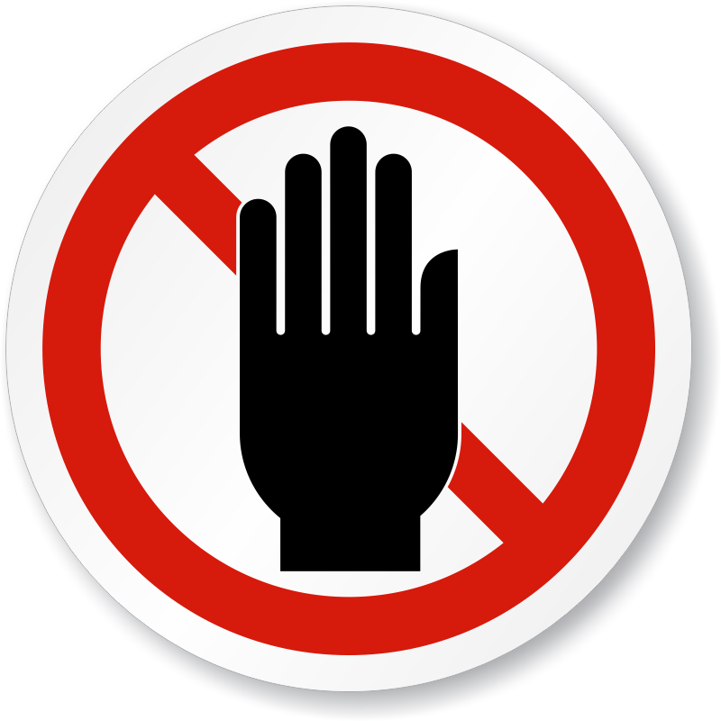 Do Not Obstruct Stay Clear Iso Prohibition Sign, Sku.