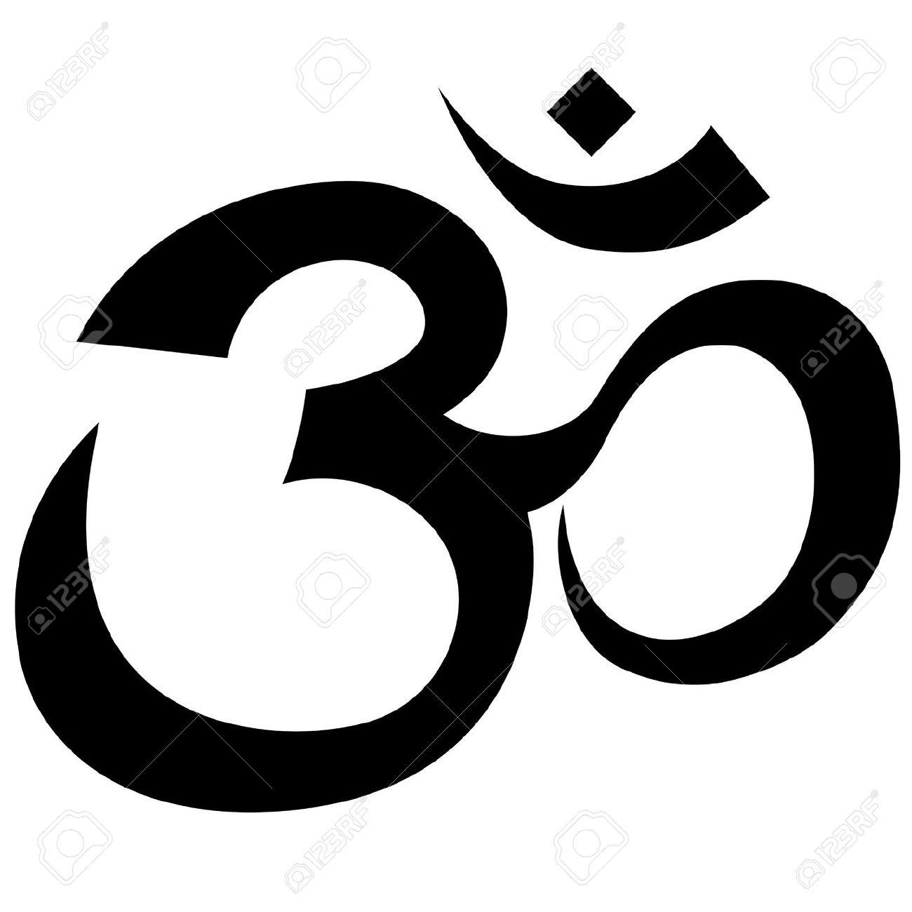 Religious Symbol Om Clipart.