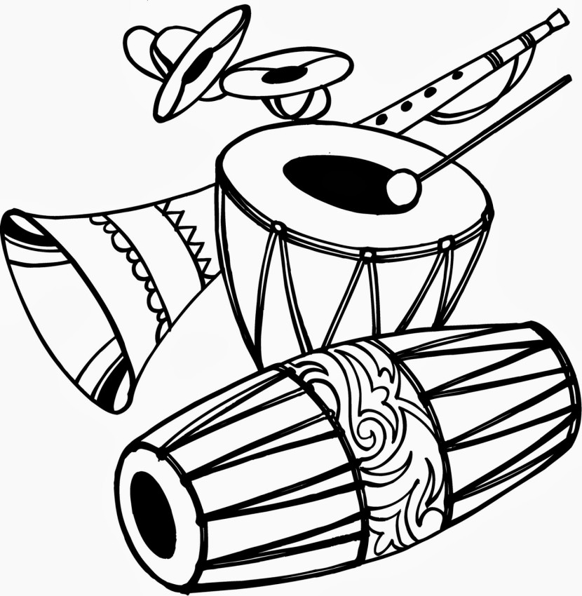 Indian Wedding Clipart Black And White Free Download.