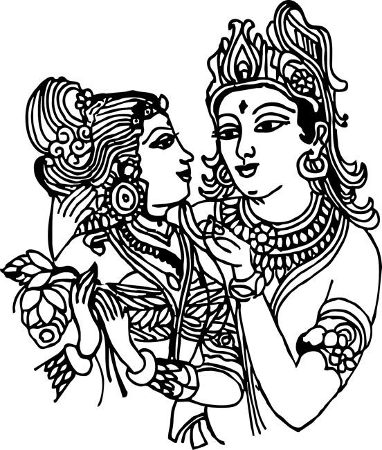 Hindu god clipart.