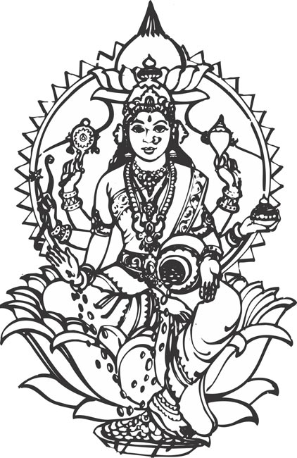 All hindu god clipart.