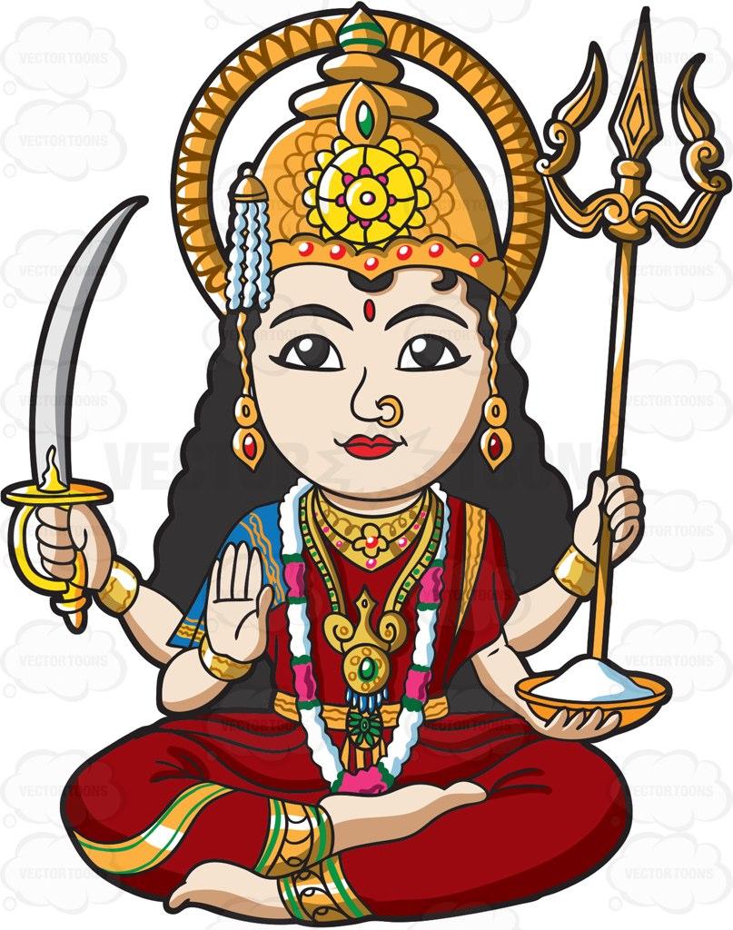 The Hindu God Vishnu.