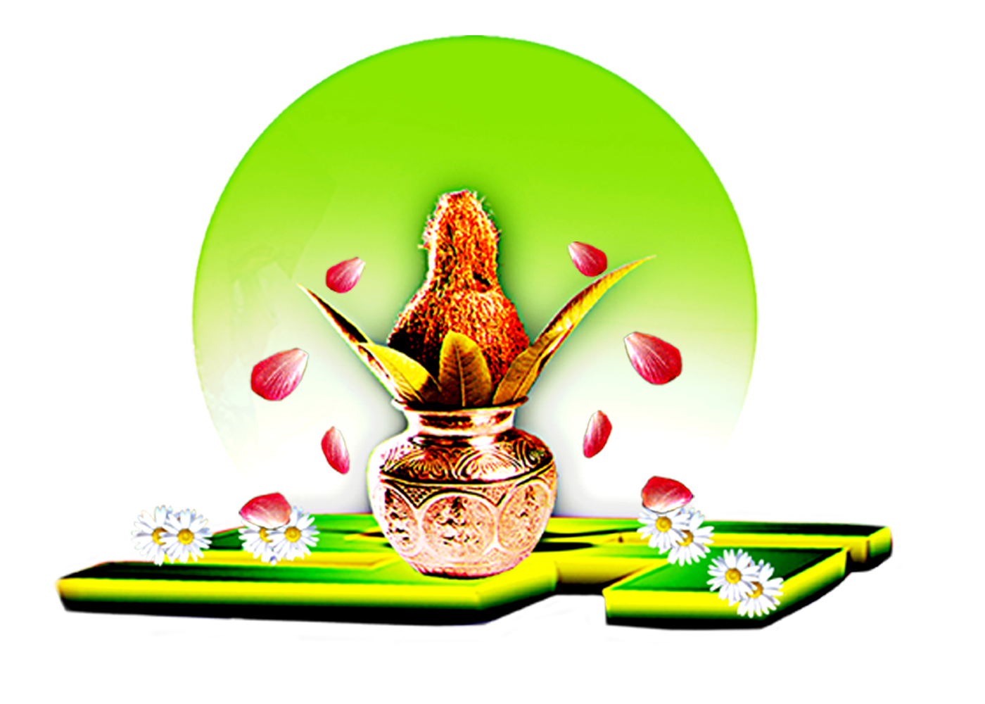 Hindu Wedding Symbols In Colour Png.