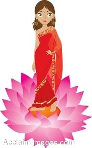 Hindu Woman Clipart.