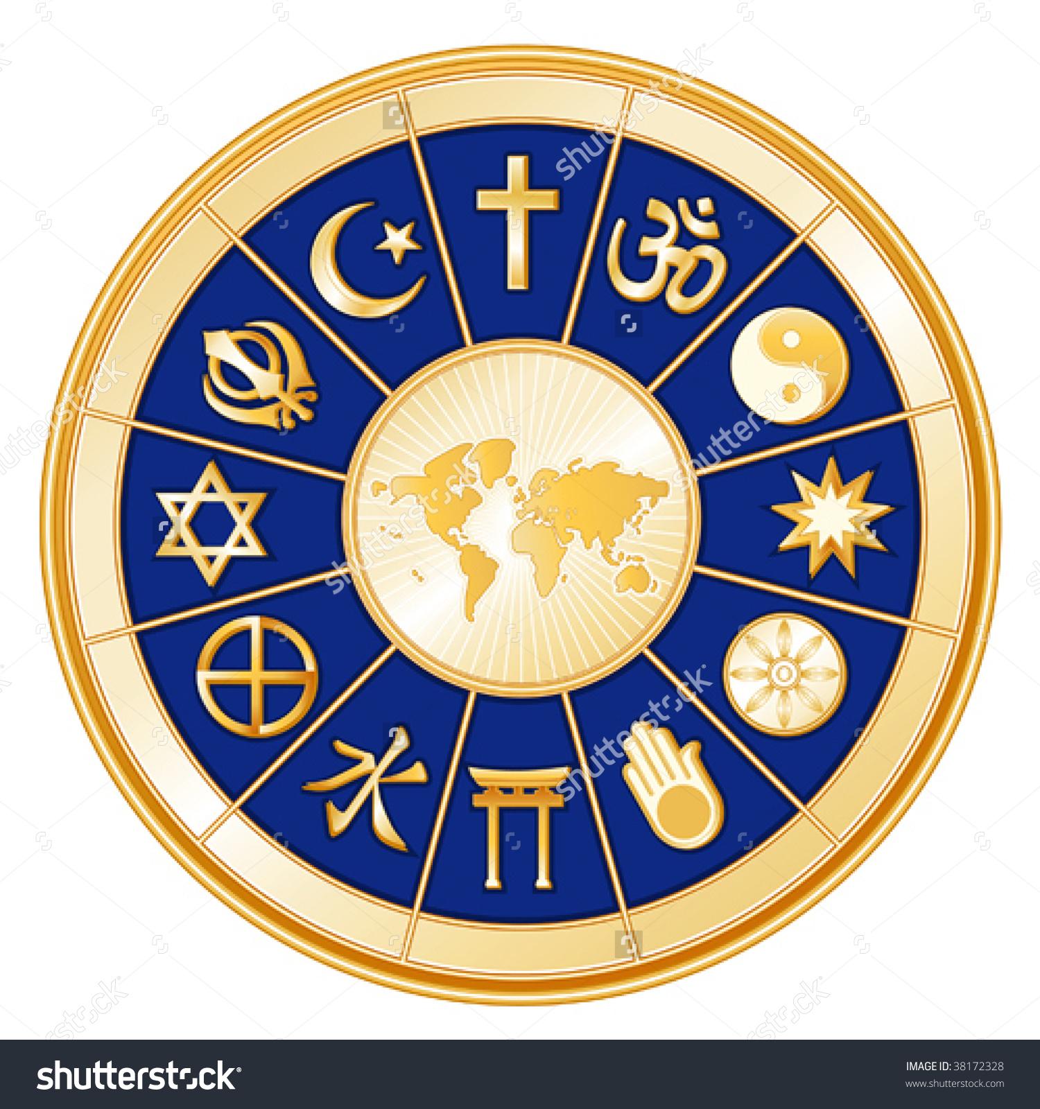 Vector World Faith 12 Religions Judaism Stock Vector 38172328.
