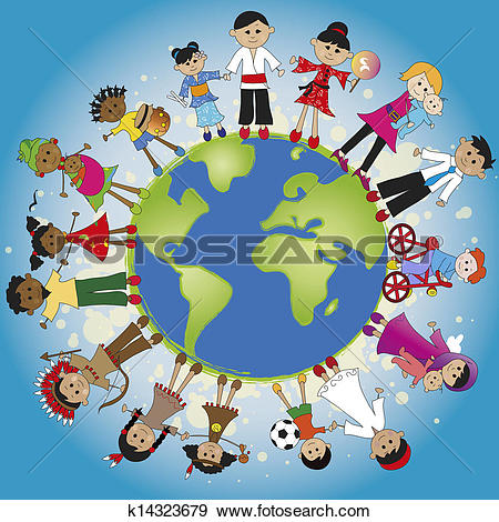 Clipart of around world k8241041.