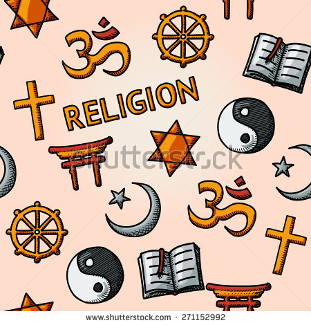 World Religion Hand Drawn Symbols Set Stock Vector 234465997.