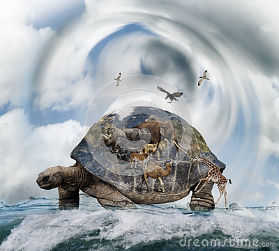 World Turtle Royalty Free Stock Photography.