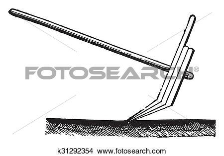 Drawings of Plow of Hindustan, vintage engraving. k31292354.