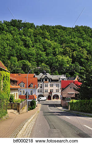 Pictures of Germany, Saxony, Tharandt, Townscape btf000218.