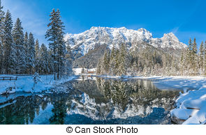 Picture of Trees at Lake Hintersee, Berchtesgaden, Germany.