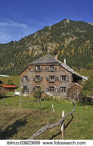 "Stock Photograph of ""Farmhouse, 200 years, with a shingle facade."