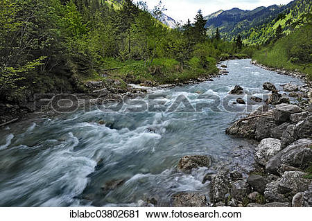 """Stock Photography of """"Torrent, tributary of the Ostrach River near."""