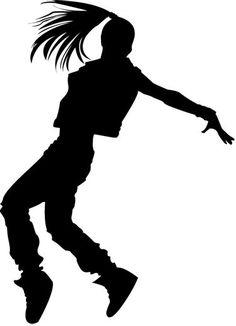 Silhouette Dancers Hip Hop.