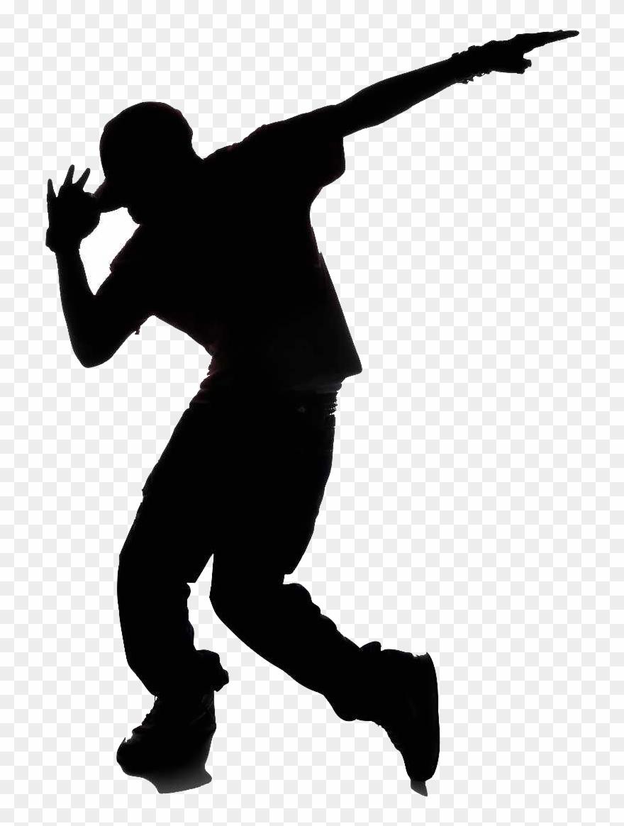 Hip Hop Dance Silhouette Clipart (#1331039).