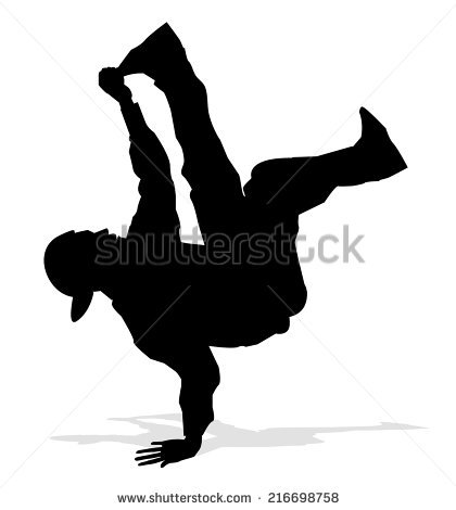 Hip Hop Dancer Silhouette Stock Images, Royalty.