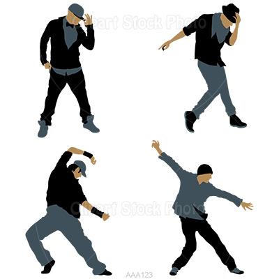 Hip Hop Dance Party Clip Art.