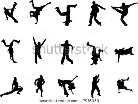 Stock Vector Hip Hop Dance.