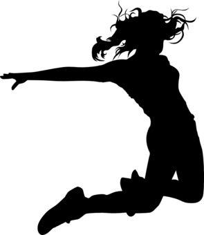 Hip Hop Dancer Silhouettes.