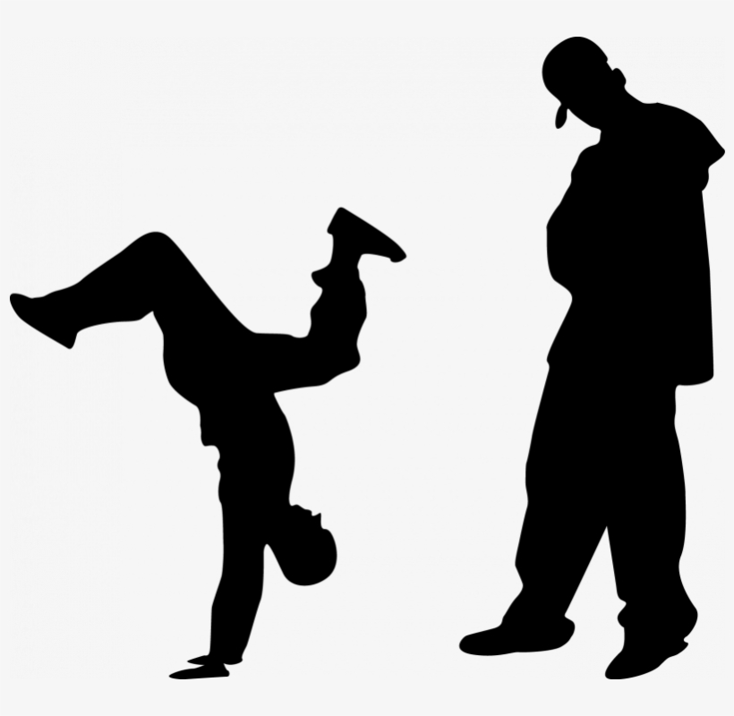 Svg Royalty Free Library Hip Hop Dance Clipart Black.