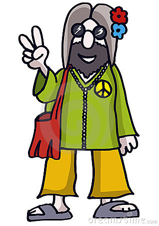 Animated hippie clipart.