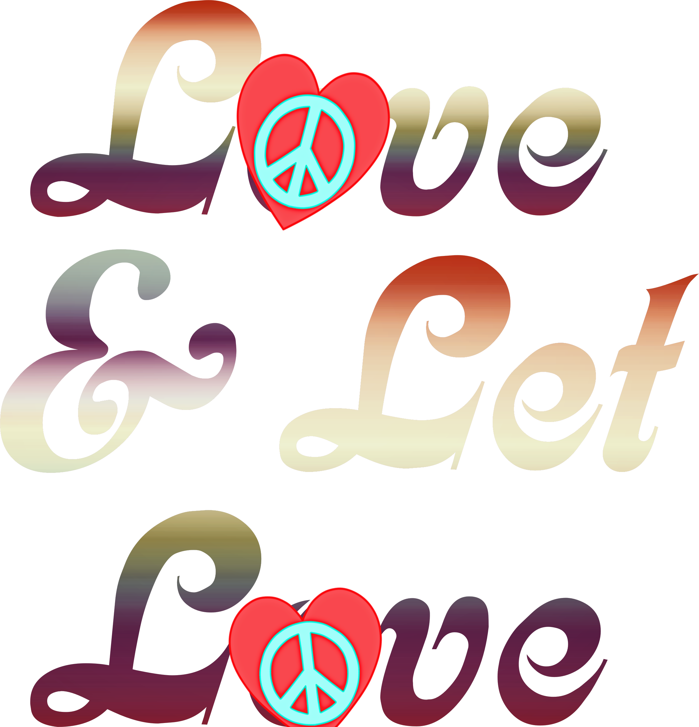L☮ve & Let L☮ve/jlb Hippie Art, Hippie Chick,.
