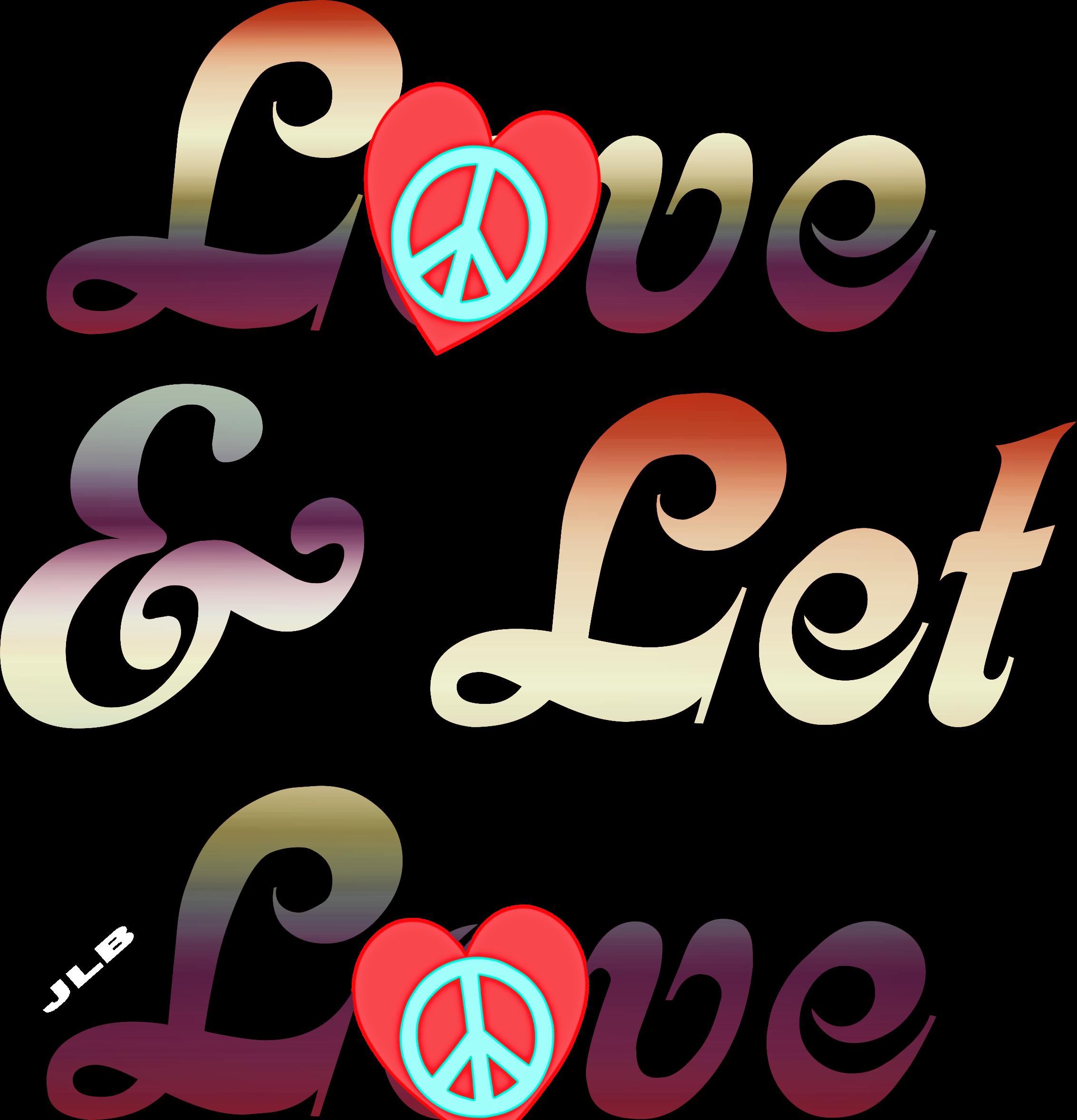 L☮ve & Let L☮ve/jlb Hippie Art, Hippie Chick,.