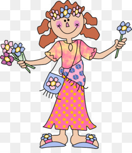 Hippie Girl PNG and Hippie Girl Transparent Clipart Free.