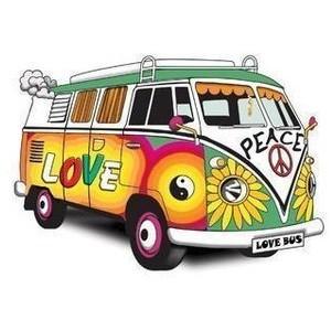 Hippie bus clip art.