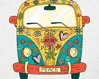 Hippie clipart.