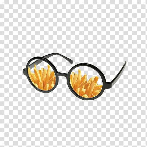 Quirky, black hippie eyeglasses transparent background PNG.