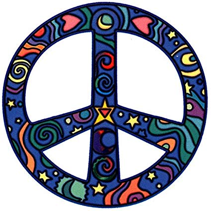 Cosmos Hippie Peace Sign.