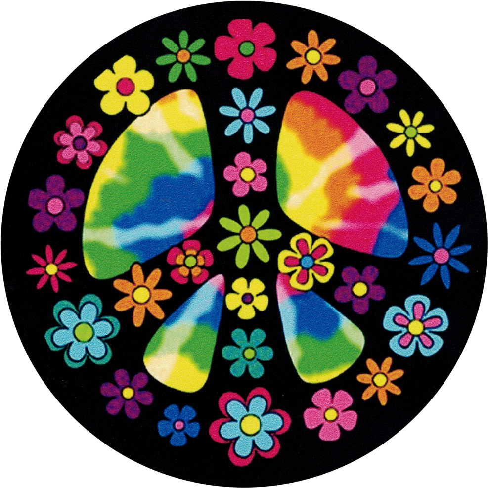 Flowery Hippie Peace Sign.