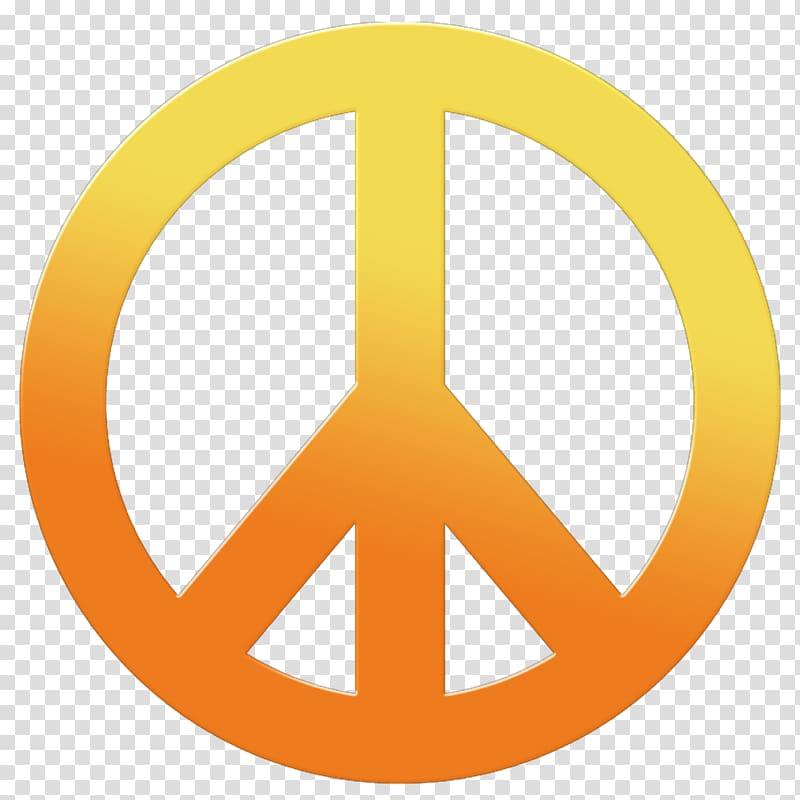 Yellow and orange piece logo, 1960s Peace symbols Hippie.