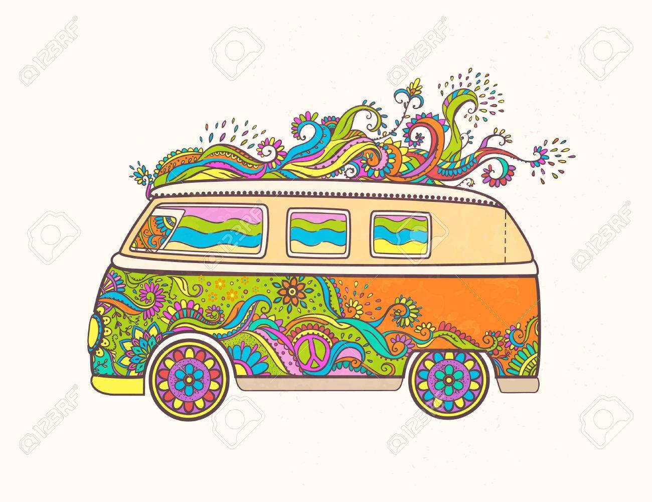 348 Hippie free clipart.