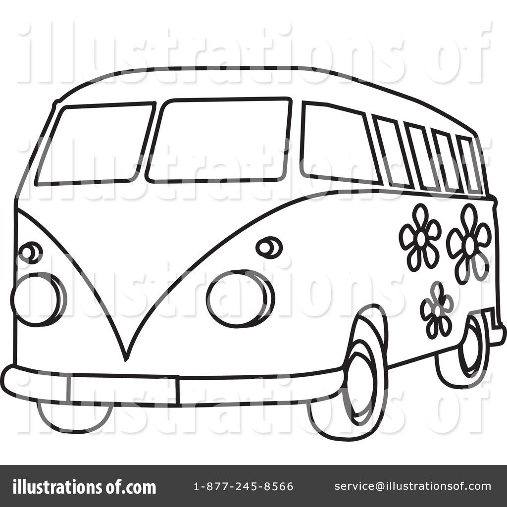 Hippie Van Clipart #210486.