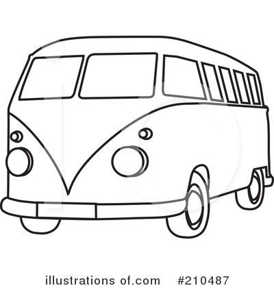 Hippie Van Clipart #210487.