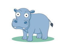 Free Hippo Clipart.