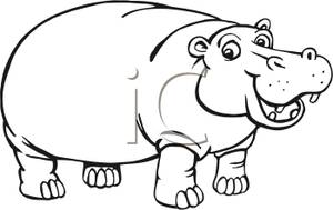 hippopotamus clipart Hippo Clip Art Vector #Download.
