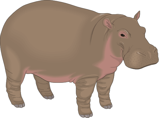 Free to Use & Public Domain Hippopotamus Clip Art.