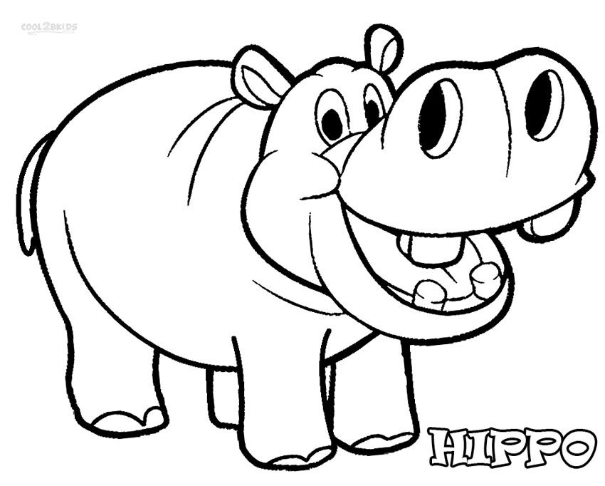 Bulky Mammals: #30 Hippopotamus Coloring Pages & Hippo.