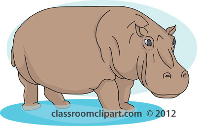 Clipart hippo clipart image.