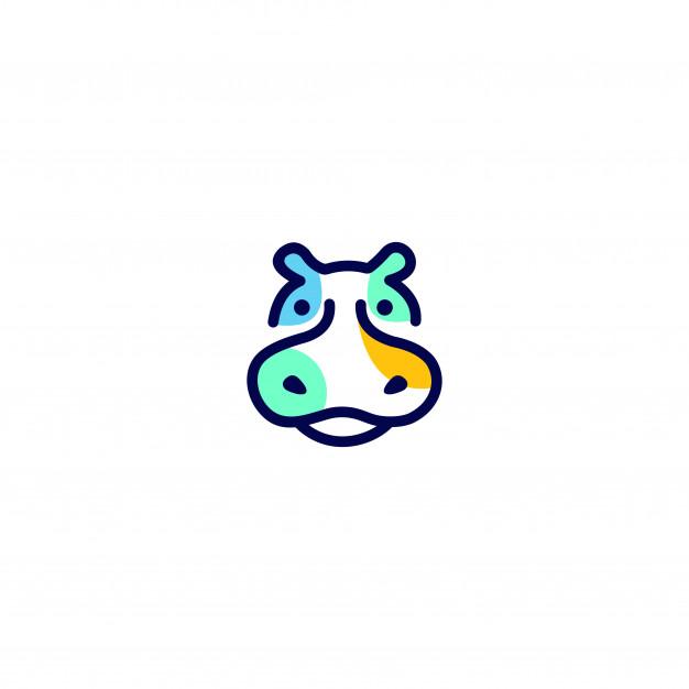 Hippo logo unique concepts minimalist Vector.