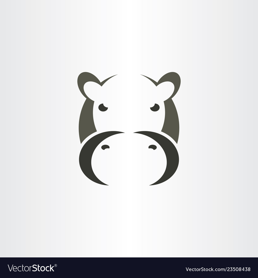 Hippo logo icon sign symbol.